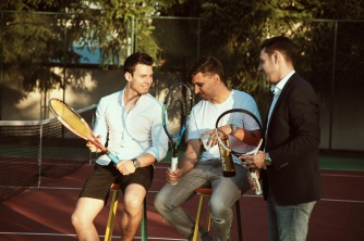 Players Andrei Iaroscenco, Andrei Gingirov and Andrei Alecu